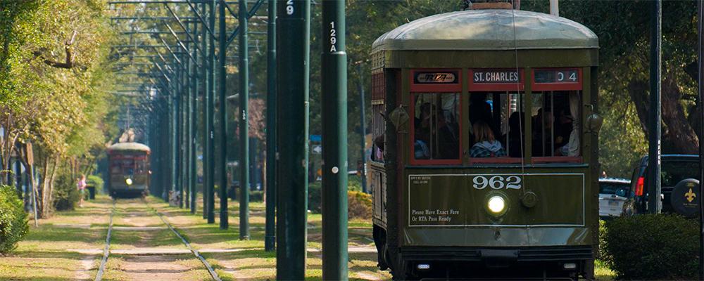 Streetcar on St. Charles Street